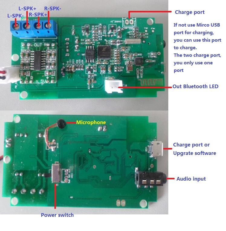 3W Bluetooth Speaker Board,bluetooth Speaker PCBA,bluetooth Amplifierdigital Amp Module ,class D