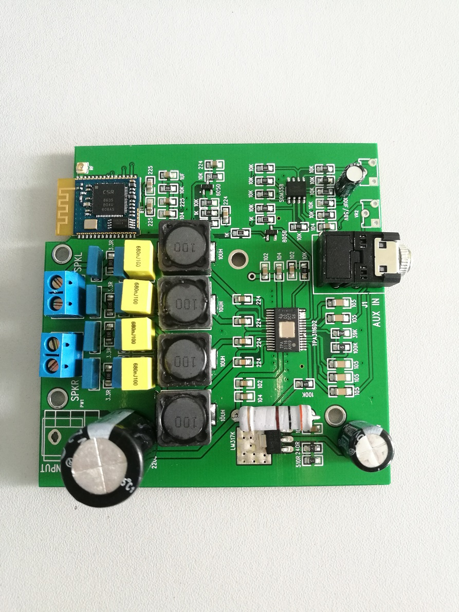 TPA3116 bluetooth 4.0 amplifier 2*50W digital bluetooth amplifier board with antenna AUX in